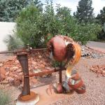 Jordan Road sculpture before the museum grounds