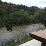 Balcony view of Animas River