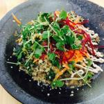 Definitely try the buddha bowl. Vegetarian deliciousness.