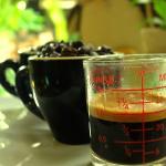 Espresso shot of Tiramisu House's BitterSweet Blend.