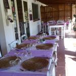 zona ristorante sotto il portico