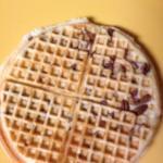 Pecan waffle - yum!
