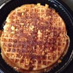 Apple crumb waffle! Delish!