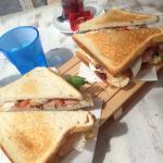 Really tasty club sandwich!