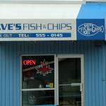 Dave's Fish & Chips side take-out entrance