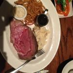 10oz Prime Rib, with Garlic Mashed,,,  good.