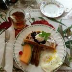 One of our amazing breakfasts at the B&B