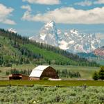Views of the Tetons - just around the corner from the Cabins