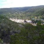 View of campground from scenic overlook
