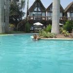 La piscina en Rústica Pachacamac