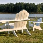 Our adirondack chairs overlooking the river.