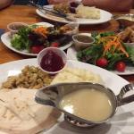 One turkey dinner shared
