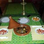 romantic dinner offered by the Riad
