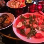 Carpaccio de bœuf et ses légumes grillés