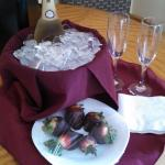 Peppercorns  offers wonderful Champagne & Strawberries to be in your room if you call ahead
