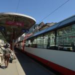 Platform for trains in Brig