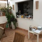 Vue terrasse buffet petit déjeuner
