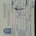 Our receipt for paying the entrance fee, make sure you get one