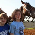 grandsons and horse