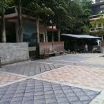 Rainbow Safari Resort in August. Freshly laid courtyard area looks lovely.