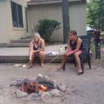 enjoying the bon fire!