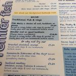 The menu, specials board and the very nice Kenton Estate wine list on our visit in September 201