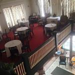 The dining room from the upper floor