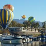 January Balloon Festival over our Resort and marina!