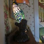 Toucan lamp in living room