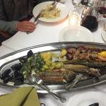 Fisch- und Fleischplatte!TOP!