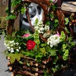 Flowers and hand crafted planters stall