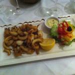 Soupions et calamars frites