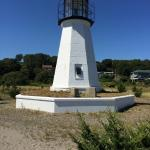 Lighthouse at Sandy Point, Prudence Island, RI