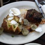Filet and baked potatoe