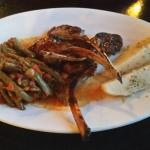 Lamb chops & a lamb/rice dish