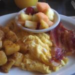 hearty but greasy breakfast platter