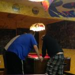 guys and the pool table game on!