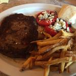 Beef ribeye, fresh fries, vine ripened tomatoes w/bleu cheese crumbles
