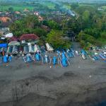 aerial view echo beach boat storage by drone