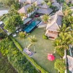 aerial view sounds of the sea villa