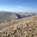 Last mile of Mt Democrat trail is across boulders