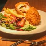 Chicken Kiev from Barassis Restaurant at Cazalys Cairns