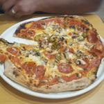 Best pizza ever!!!! Stone baked!! Must try!