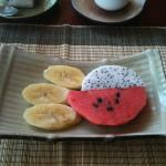 Fruit as part of the breakfast set