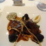 GROUSE WITH GIROLLES, BLACKBERRIES & BREAD SAUCE