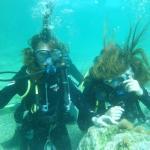 Первый раз под водой.