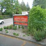 Entrance sign along highway