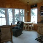 Cabin 1 - lots of window, lots of Lake Superior