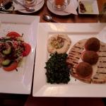 Falafel Humus and Tabbouleh Pitta with side salad