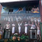 Huge mural. The whole village is covered with them!
